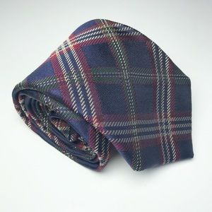 Brooks Brothers '346' Pure Silk Blue Check Tie